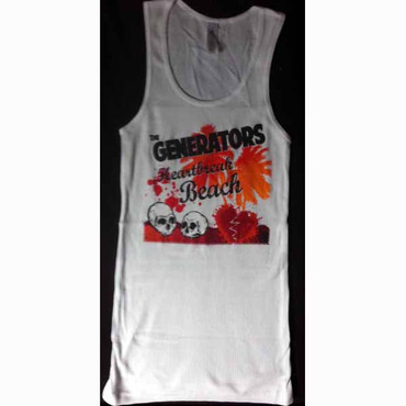 Girlie Muskelshirt- The Generators- Heartbreak- white/weiss