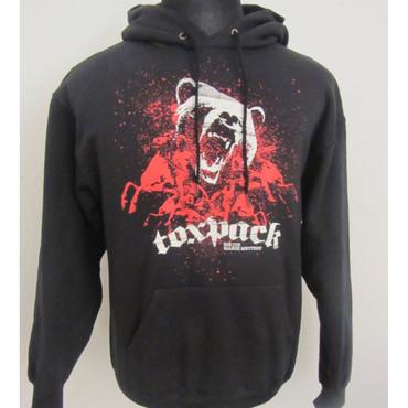 Kapuzenpullover - Toxpack - Bis die Masse meutert - schwarz/ rot – Bild 1