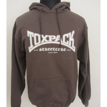 Hoodie - Toxpack - Streetcore since 2001 - brown
