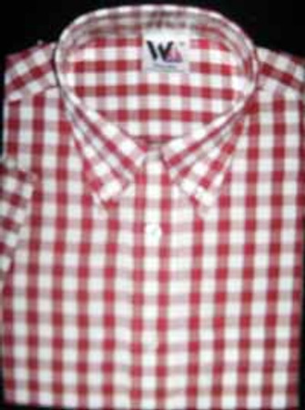 Classic Button Down Shirt - Warrior Clothing - red/ white check