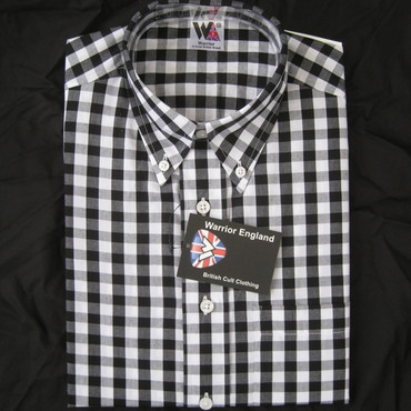 01 Warrior Vintage Button Down Skaville Black Check