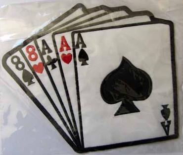 Aufnäher- Karten- groß