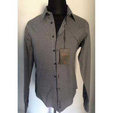 Long Sleeve Shirt - Ben Sherman - black/ white check