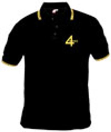 Poloshirt - 4 Skins - black/ yellow