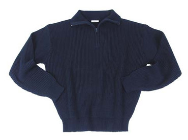 Knitted Pullover - Troyer - black