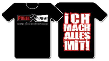 T-Shirt - Pöbel & Gesocks - Unterschicht - black