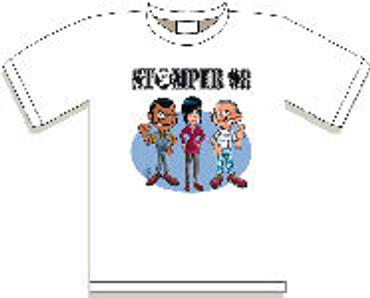 T-Shirt - Stomper 98 - Alteau Motiv - white