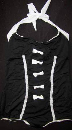 Swim Suit - black/ white