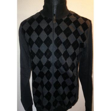Hoodie Jacket - Ben Sherman - diamond - black/ grey