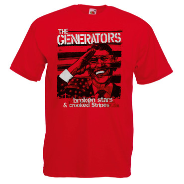 T-Shirt - The Generators - Broken Stars - rot