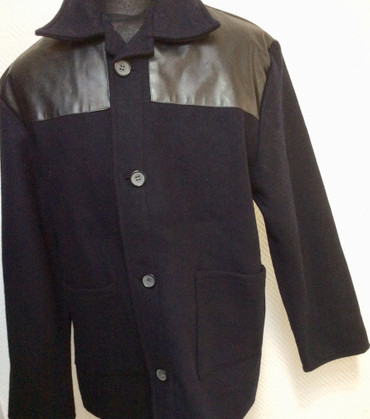 Donkey Jacket - PVC - black
