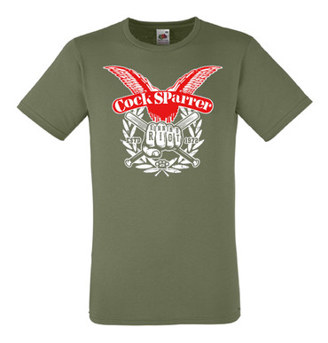 T-Shirts - Cock Sparrer - Running Riot - olive