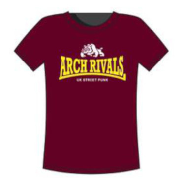 T-Shirt - Arch Rivals - UK Streetpunk - bordo