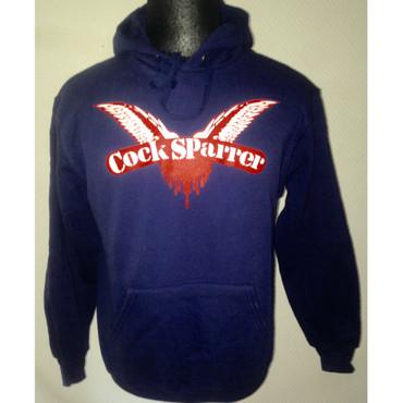 Kapuzenpullover - Cock Sparrer - Flügel - blau