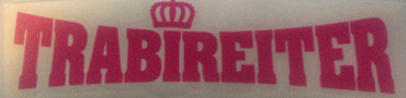 Car sticker - Trabireiter - big - pink