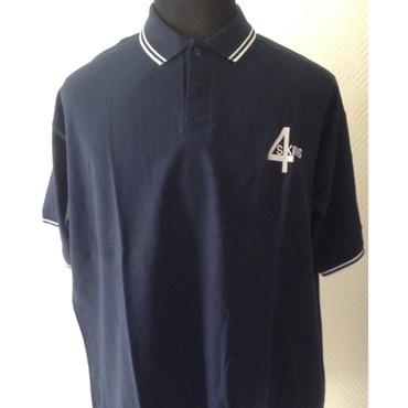 Poloshirt - 4 Skins - blue/ white
