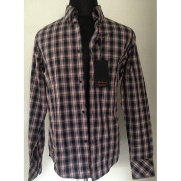 Long Sleeve Shirt - Ben Sherman - blue/ white/ red/ black - check