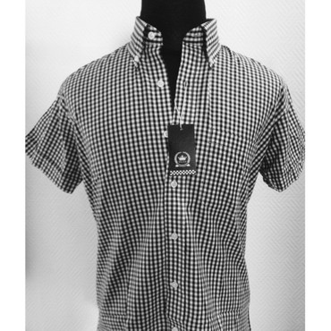 Short Sleeve Shirt - Relco - black/ white - check