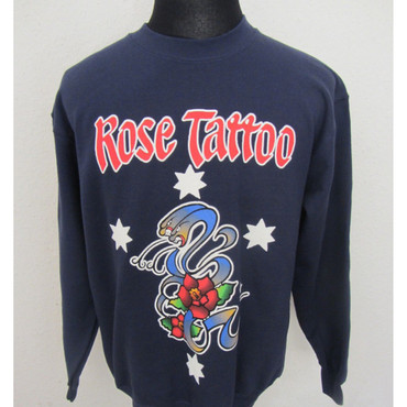 Pullover - Rose Tattoo - blau