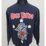 Sweatshirt - Rose Tattoo - bue