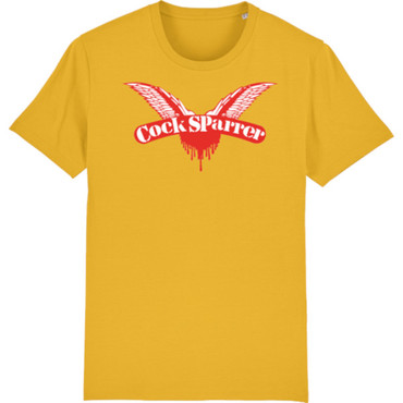 T-Shirt - Cock Sparrer - Wings - yellow