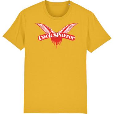 T-Shirt - Cock Sparrer - Flügel - gelb