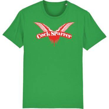 T-Shirt - Cock Sparrer - Flügel - grün