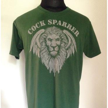 T-Shirt - Cock Sparrer - Löwe - dunkelgrün