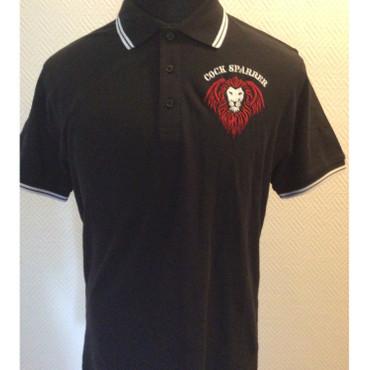 Poloshirt - Cock Sparrer - Lion - black