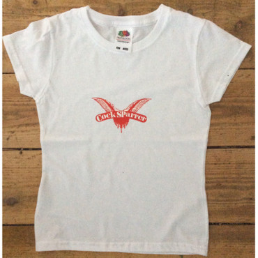 Kids T-Shirt - Cock Sparrer - wings - white - age 7/8