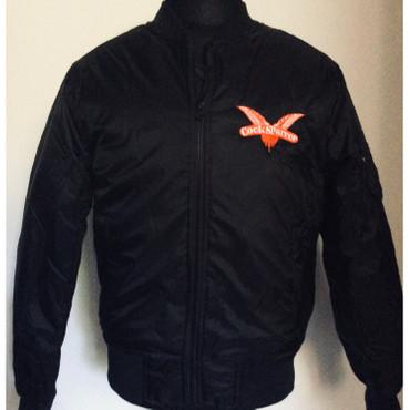 Bomberjacke - Cock Sparrer - Flügel - schwarz