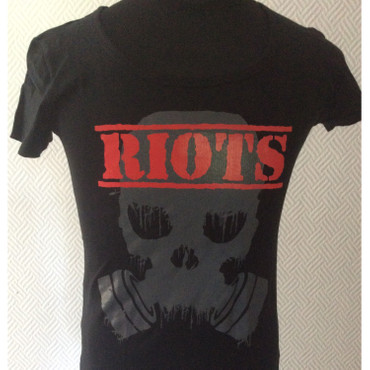 Girlie - T-Shirt - Riots - logo/ black