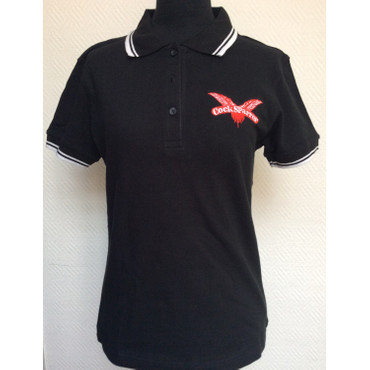 Lady Version - Poloshirt - Cock Sparrer - Wings - black