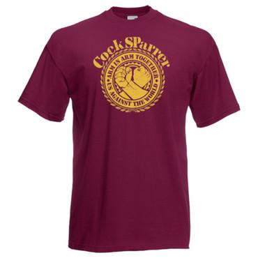 T-Shirt - Cock Sparrer - Arm in Arm - bordo - Übergröße