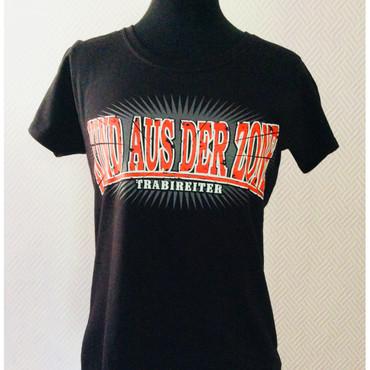 Girlie - T-Shirt - Trabireiter - Kind aus der Zone - black