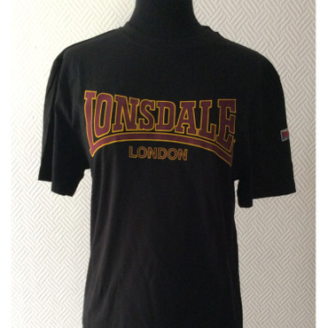 T-Shirt - Lonsdale - classic - black/ yellow
