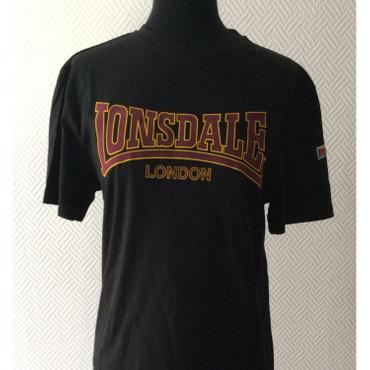 T-Shirt - Lonsdale - Logoschriftzug - schwarz/ gelb