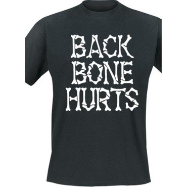 T-Shirt - Backbone Hurts - Bones - black