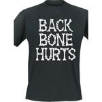 T-Shirt - Backbone Hurts - Bones - black 001