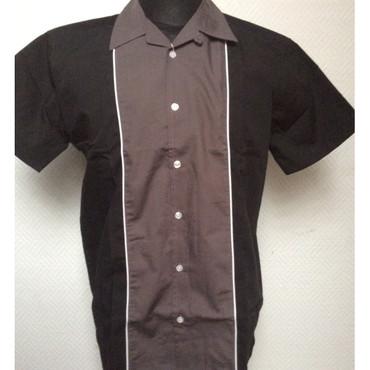 Bowling Shirt - Relco - grey/ black