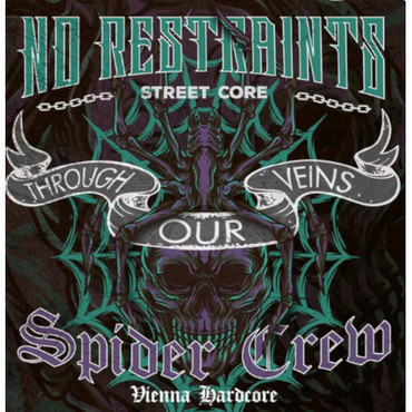 Split - Spider Crew/ No Restraints - Through our veins - Single - green
