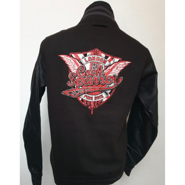 College Jacket - Cock Sparrer - Since 1972 - black – Image 1