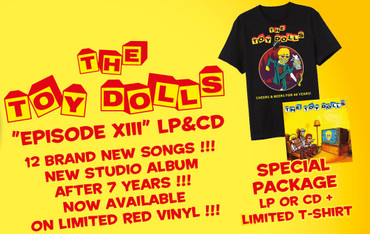 The Toy Dolls - Episode XIII - LP - rot + T-Shirt + CD – Bild 1