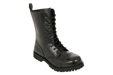 Stiefel - Boots & Braces - 10 Loch - schwarz
