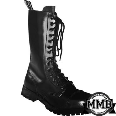 Stiefel - Boots & Braces - 14 Loch - schwarz