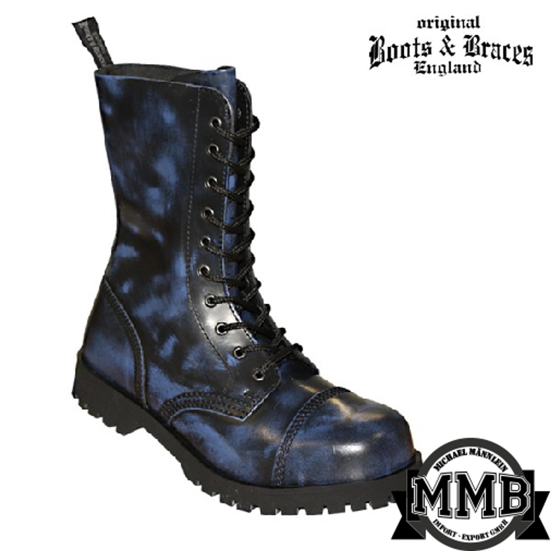 Boots - Boots \u0026 Braces - 10 hole - blue