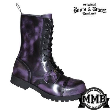Stiefel - Boots & Braces - 10 Loch - lila