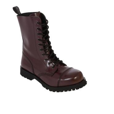 Stiefel - Boots & Braces - 10 Loch - bordo