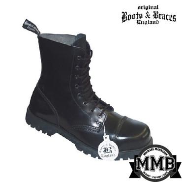 Stiefel - Boots & Braces - 8 Loch - schwarz