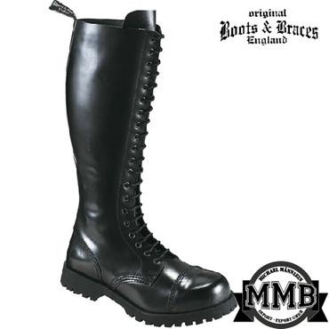 Stiefel - Boots & Braces - 20 Loch - schwarz